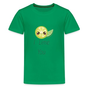 Funny and Cute Romantic Shirts I LIME YOU - Kids' Premium T-Shirt