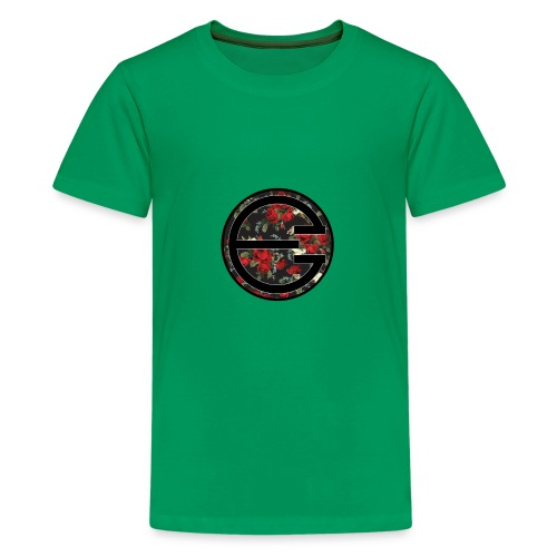 EYELESS 2D FLORAL CIRCLE PHONE CASE. - Kids' Premium T-Shirt