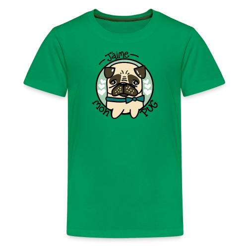 J'aime mon Pug - T-shirt premium pour ados