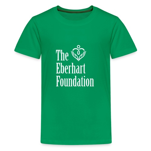 The Eberhart Foundation square logo white - Kids' Premium T-Shirt