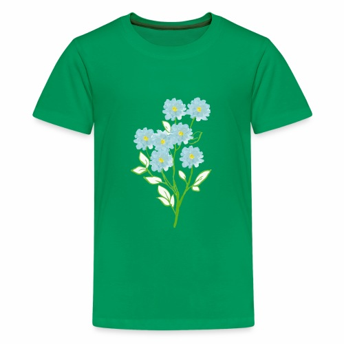 blue flower - Kids' Premium T-Shirt