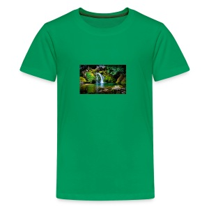 waterfall wallpaper desktop - Kids' Premium T-Shirt