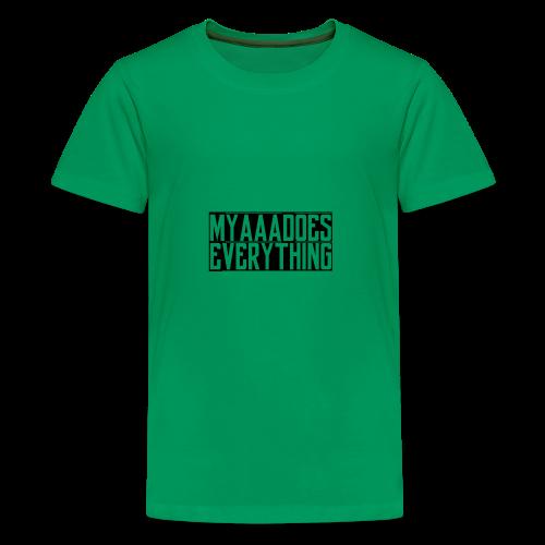 MyaaaDoesEverything (Black) - Kids' Premium T-Shirt