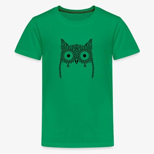 Black Owl Design - Kids' Premium T-Shirt