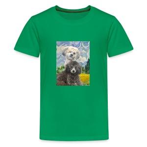 Morty and Wonton - Dogs of Modern Art - Kids' Premium T-Shirt