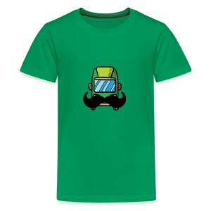 Hip Camper or Van with a Mustache - Kids' Premium T-Shirt