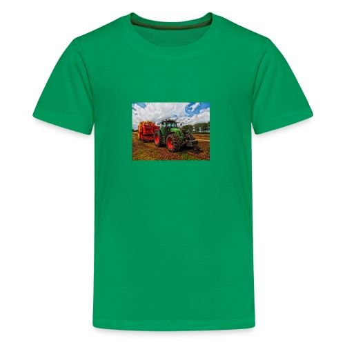 Tractor on a farm! - Kids' Premium T-Shirt