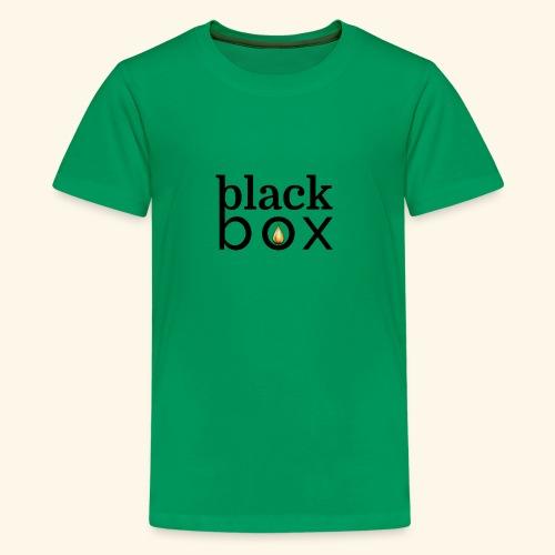 Black Box Hemp Logo Gold Drop - Kids' Premium T-Shirt