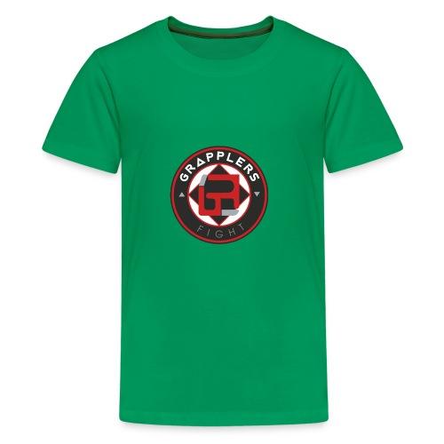 Dark 001 grapplersfight LOGO Back - Kids' Premium T-Shirt