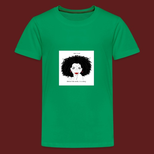 A T-shirt design all women can relate to. - Kids' Premium T-Shirt