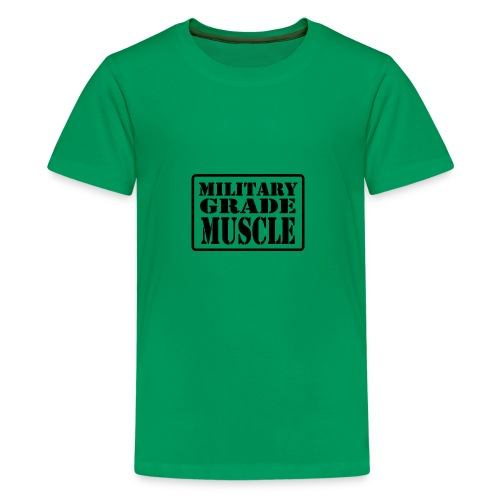 Military Grade Muscle Black - Kids' Premium T-Shirt