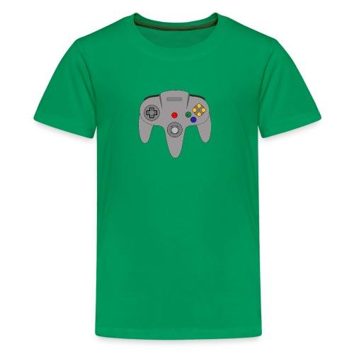 Retro64 Controller - Primal Lettering - Kids' Premium T-Shirt