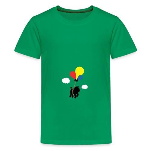Rhinoceros in flight - Kids' Premium T-Shirt