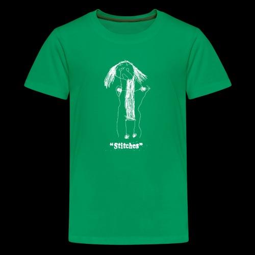 E-Wear: Stitches (in white) - Kids' Premium T-Shirt