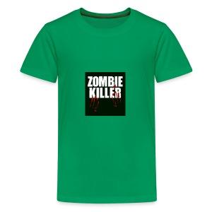 zombie killer shirt green - Kids' Premium T-Shirt