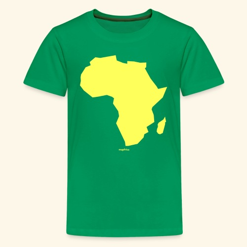 Africa Map Continent yellow - Kids' Premium T-Shirt