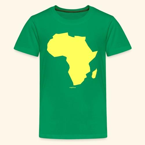 Africa Map Continent yellow - Kids' Premium T-Shirt