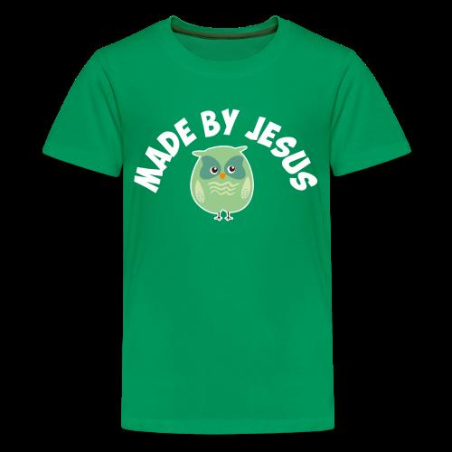 Cute little green owl - Kids' Premium T-Shirt