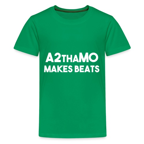 A2thaMoMakesBeats Logo White - Kids' Premium T-Shirt