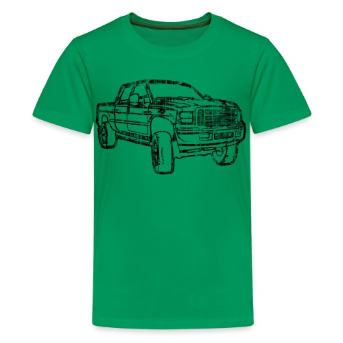 Ford Truck F250 Distressed - Kids' Premium T-Shirt