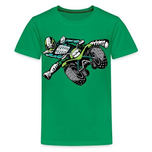 ATV Freestyle Quad Green - Kids' Premium T-Shirt