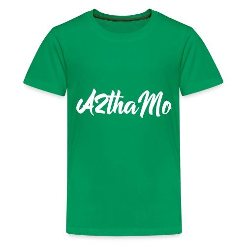 A2thaMo Logo White - Kids' Premium T-Shirt