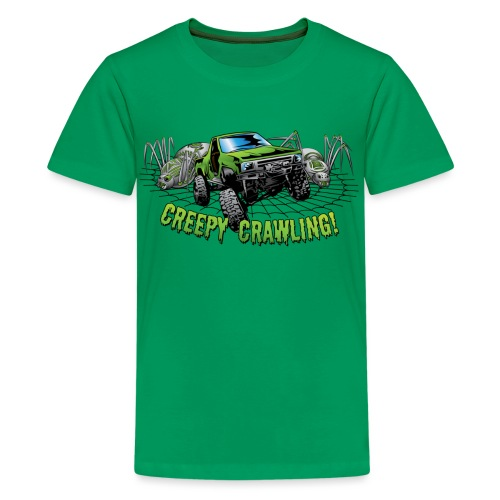 Creepy Truck Crawler blk web - Kids' Premium T-Shirt