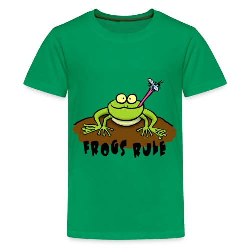 Frogs Rule cartoon frog - Kids' Premium T-Shirt