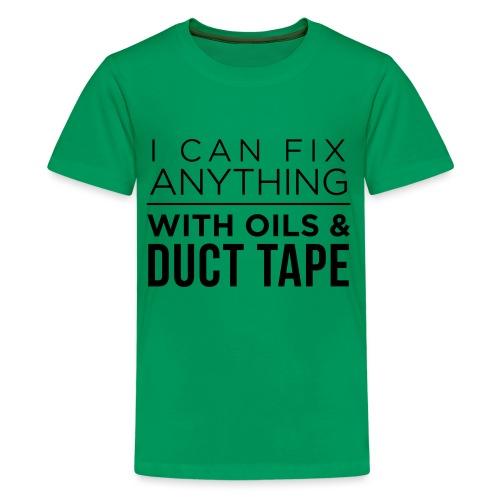 Oils And Duct Tape (Black Font) - Kids' Premium T-Shirt