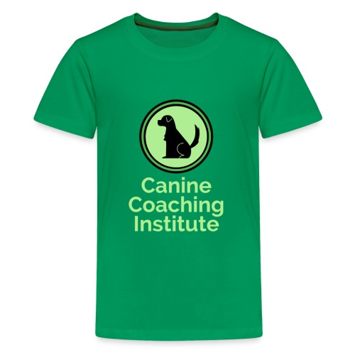 Canine Coaching Institute Logo with Light Green - Kids' Premium T-Shirt