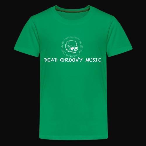 Dead Groovy Music - Basic Logo - White - Kids' Premium T-Shirt