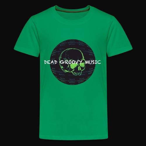 Dead Groovy Music - Detail Logo/Name - Colour - Kids' Premium T-Shirt