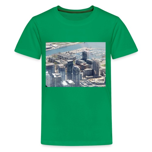 Toronto building by JRL - Kids' Premium T-Shirt