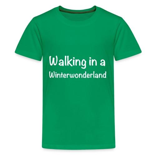 Walking in a Winterwonderland weiss - Kids' Premium T-Shirt