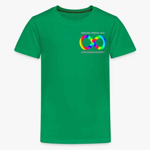Embrace Neurodiversity with Swirl Rainbow - Kids' Premium T-Shirt