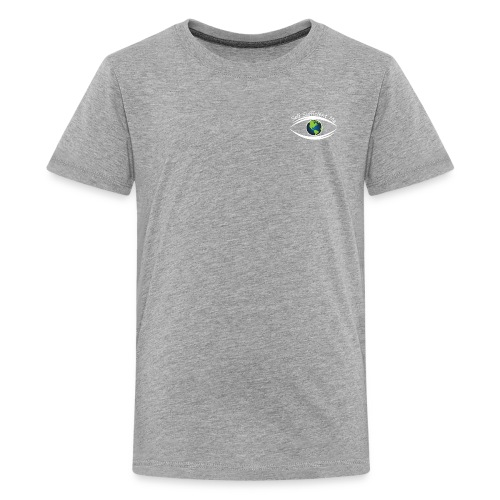 Self Sufficient Me Logo white small coy design - Kids' Premium T-Shirt