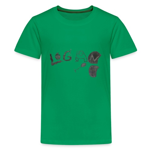 Hand Drawn Halloween Themed Logo - Kids' Premium T-Shirt