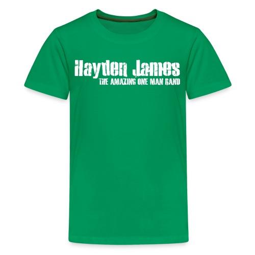 Hayden James (White Logo) - Kids' Premium T-Shirt