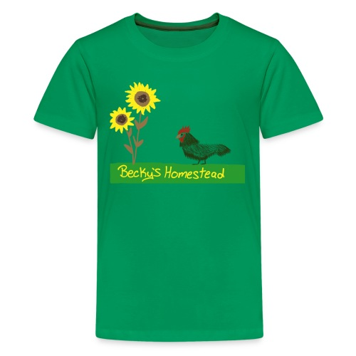 Chicken and Sunflowers - Kids' Premium T-Shirt