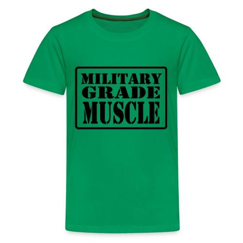 Military Grade Muscle Black - Kids' Premium T-Shirt