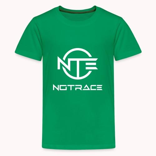 NoTrace WHITE Logo - Kids' Premium T-Shirt
