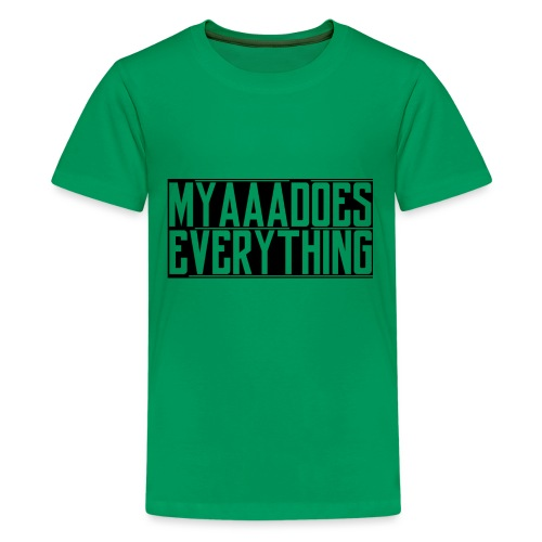 MyaaaDoesEverything (Black) - Kids' Premium T-Shirt