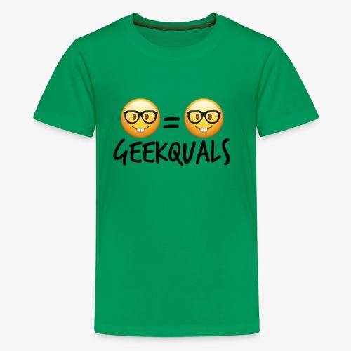 Geekquals (Black Text) - Kids' Premium T-Shirt