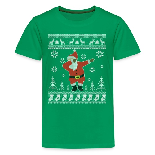 Ugly Christmas Sweater Dabbing Santa Funny Shirt - Kids' Premium T-Shirt