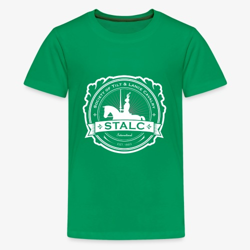 STALC Logo White only - Kids' Premium T-Shirt