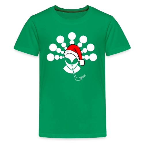Christmas Alien White - Kids' Premium T-Shirt