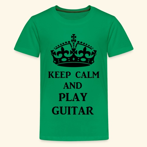 keep calm play guitar blk - Kids' Premium T-Shirt