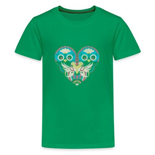 Cool Couple Heart Design Artistic Shirt - Kids' Premium T-Shirt
