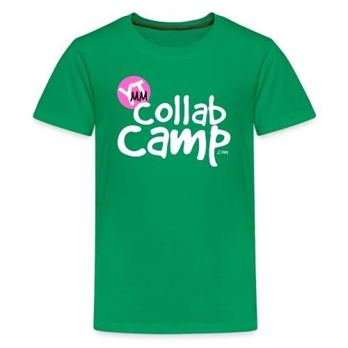 collab camp t pink k white png - Kids' Premium T-Shirt