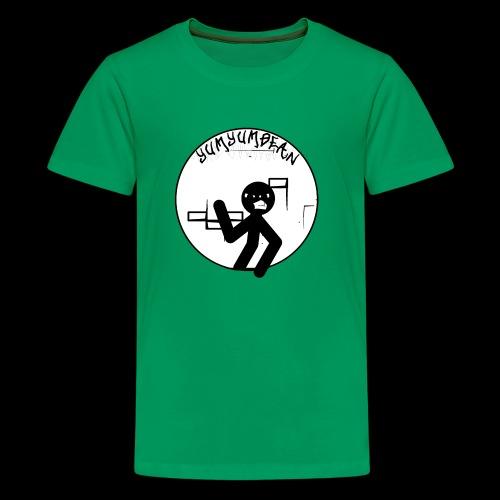 yumyumbean graffiti wall logo - Kids' Premium T-Shirt